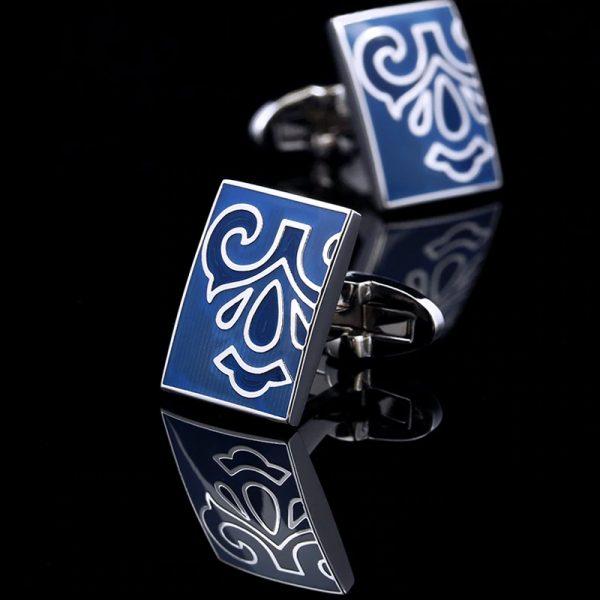 Mens Blue Totem Cufflinks Sets from Gentlemansguru.com
