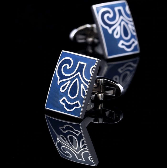 Mens Blue Totem Cufflinks Sets from Gentlemansguru.com