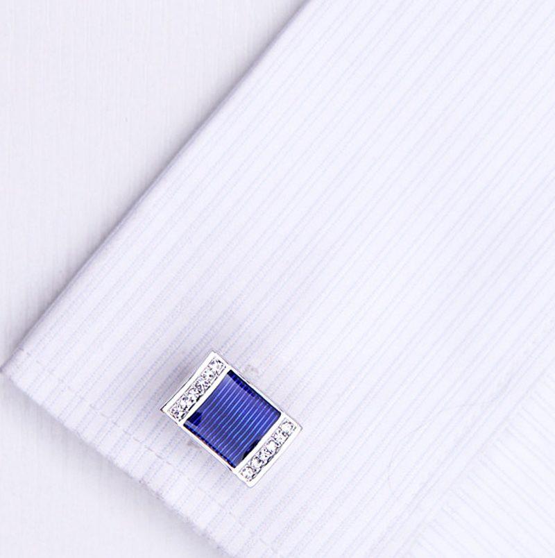 Mens Blue Wedding Button Cufflinks from Gentlemansguru.com