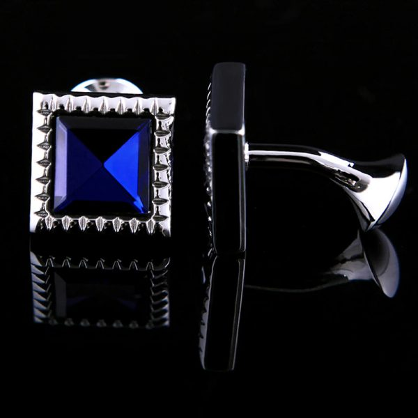 Mens Bristol Blue Glass Cufflinks from Gentlemansguru.com