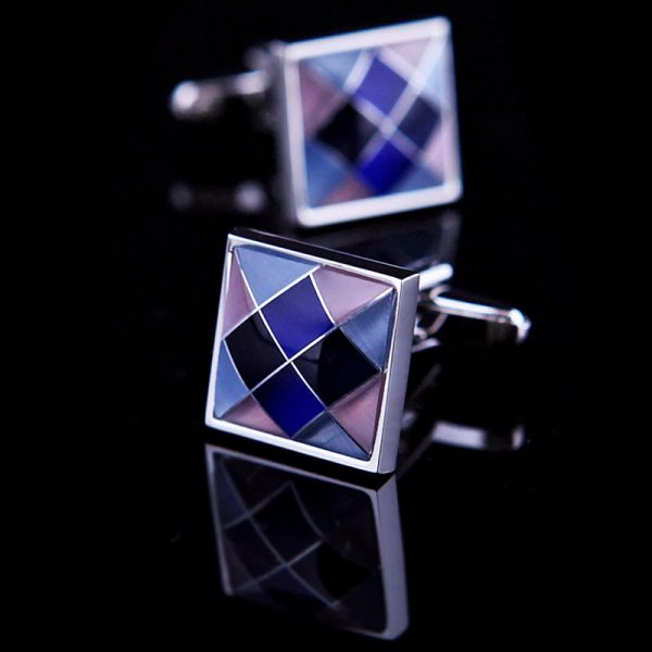 Mens Purple Argyle Cufflinks from Gentlemansguru.com