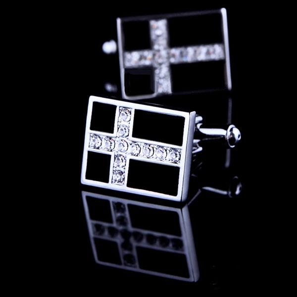 Mens-Crystal-Cross-Cufflinks-from-Gentlemansguru.com