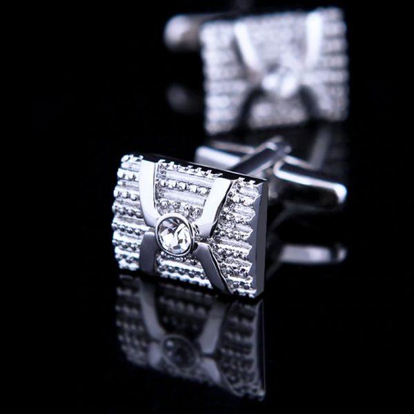 Mens Crystal Wrapped Cufflinks from Gentlemansguru.com