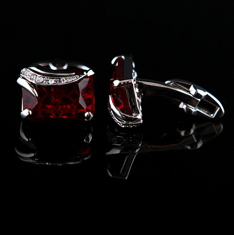 Mens Garnet Gemstone Cufflinks Red Stone Cufflinks For Men from Gentlemansguru.com