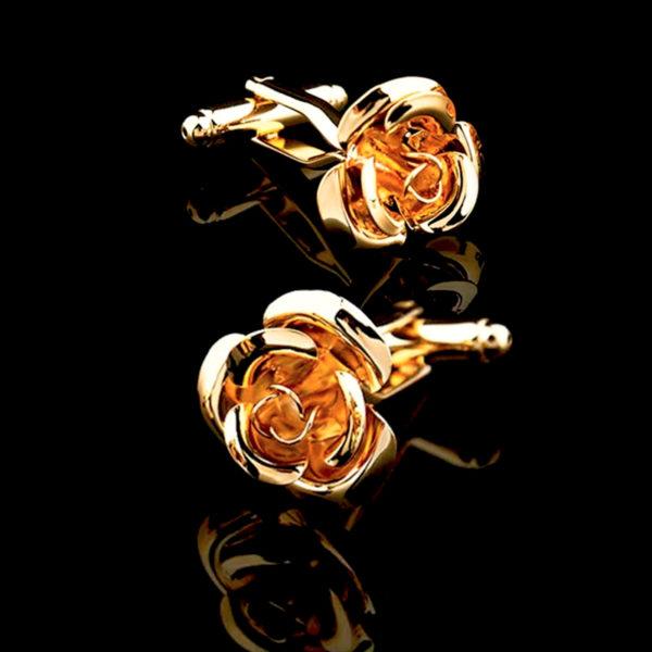 Mens-Gold-Rose-Cufflinks-from-Gentlemansguru.com