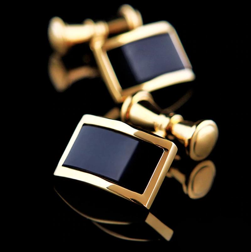 Black And Gold Chain Link Cufflinks from Gentlemansguru.com