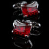 Mens Red Gemstone Cufflinks from Gentlemansguru.com