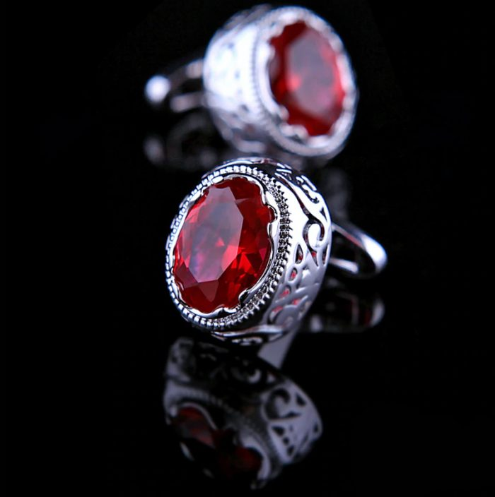 Mens Red Ruby Cufflinks from Gentlemansguru.com