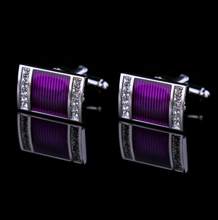 Purple Cufflinks Wedding for Men from Gentlemansguru.com