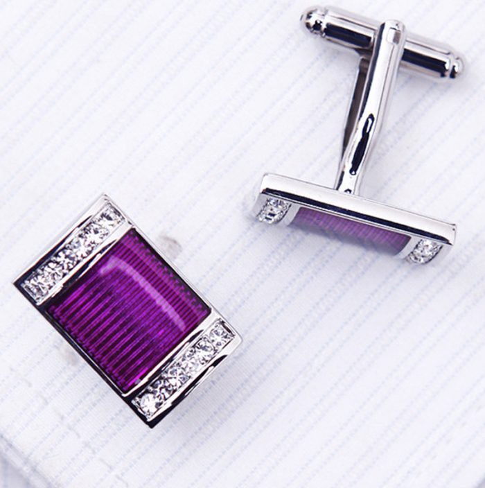 Purple Wedding Button cufflinks from Gentlemansguru.com