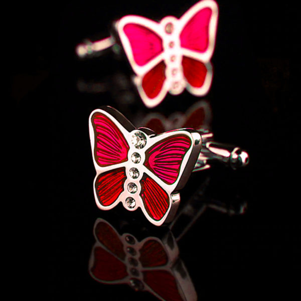 Red Butterfly Cufflinks from Gentlemansguru.com