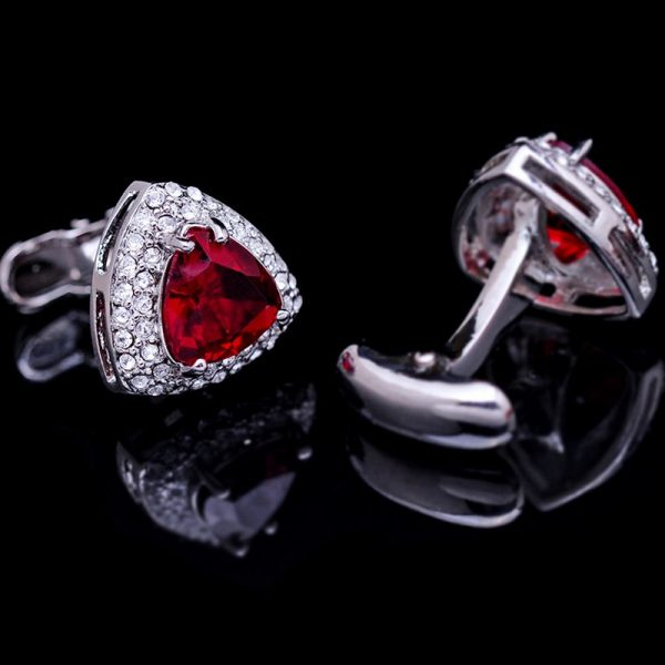 Red Cufflinks Next-shirt-stone-code-red Big Red Cufflinks With Crystal from Gentlemansguru.com