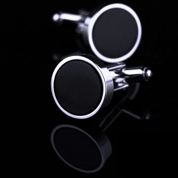 Round Black Tuxedo Cufflinks from Gentlemansguru.com