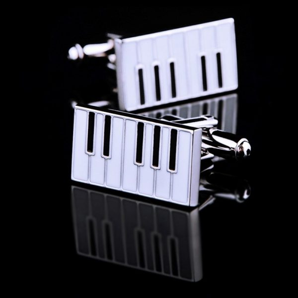 Silver Piano Cufflinks from Gentlemansguru.com