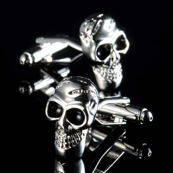 Silver Skull Cufflinks from Gentlemansguru.com