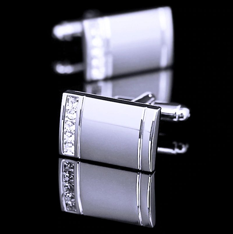 Silver Wedding Cufflinks For Groom from Gentlemansguru.com