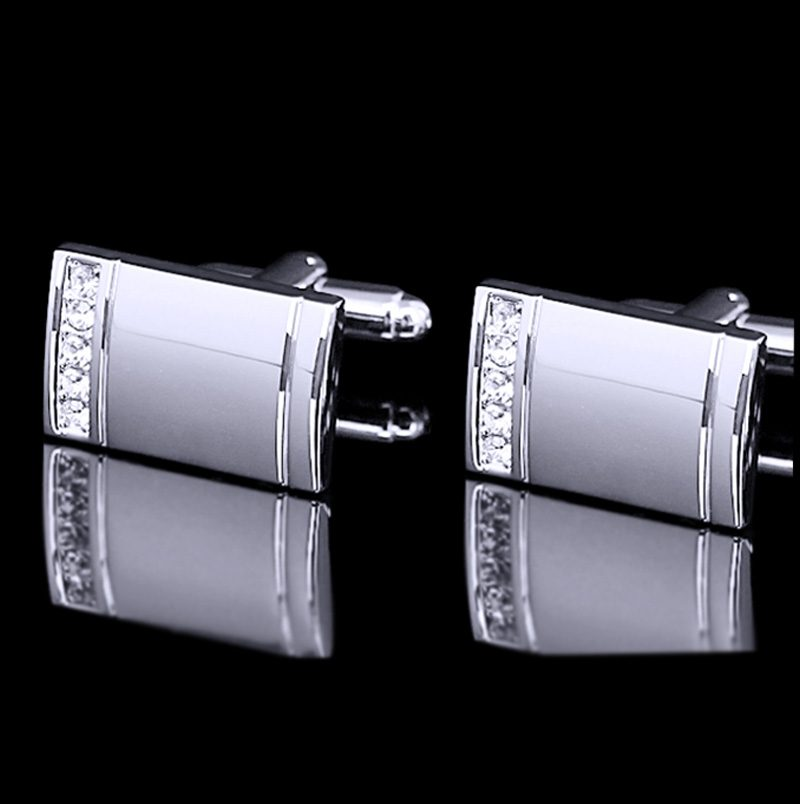 Silver Wedding Cufflinks Set from Gentlemansguru.com