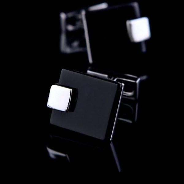 Square Matte Black Cufflinks Set from Gentlemansguru.com