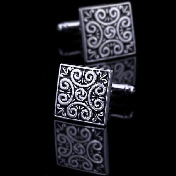 Square Vintage Silver Cufflinks from Gentlemansguru.com