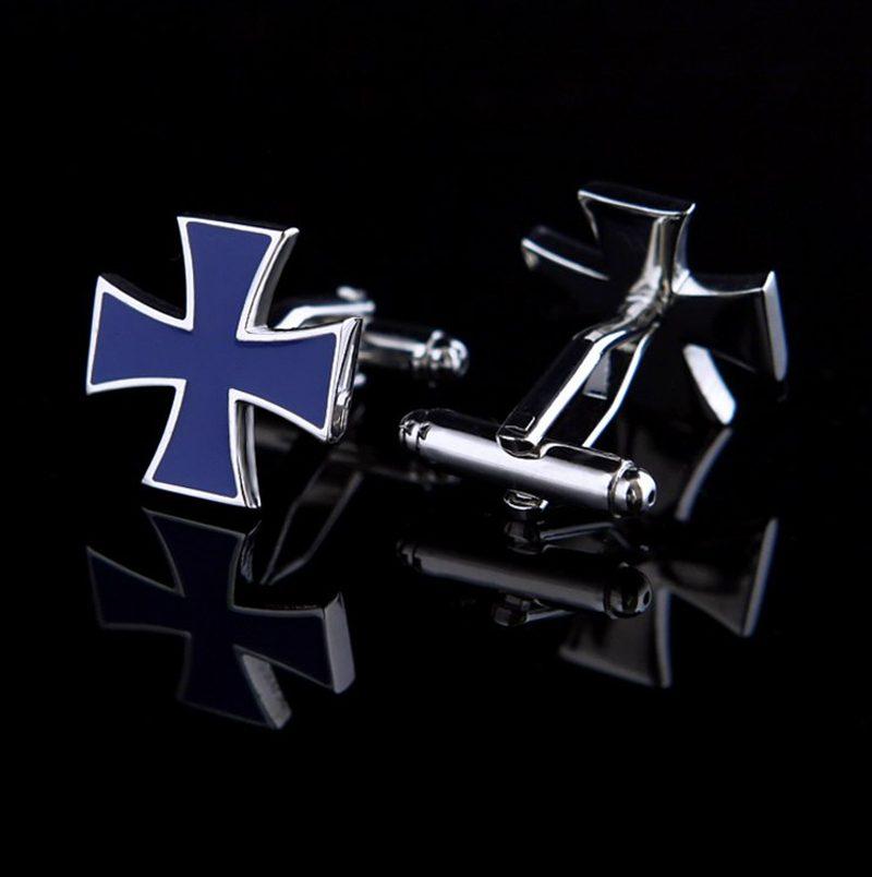 Tuxedo Wedding Iron Cross Cufflinks Set from Gentlemansguru.com