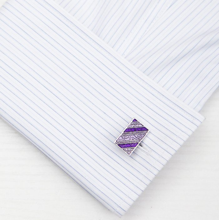 Vintage Paisley Cufflinks Button Mens from Gentlemansguru.com
