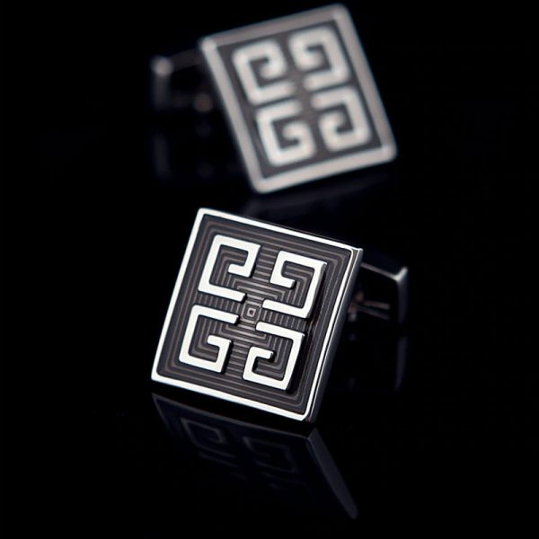 Vintage Grey Enamel Cufflinks from Gentlemansguru.com