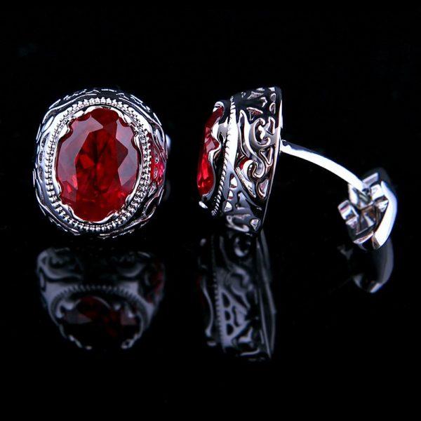 Swank Vintage Ruby Cufflinks Red Cufflinks For Men from Gentlemansguru.com