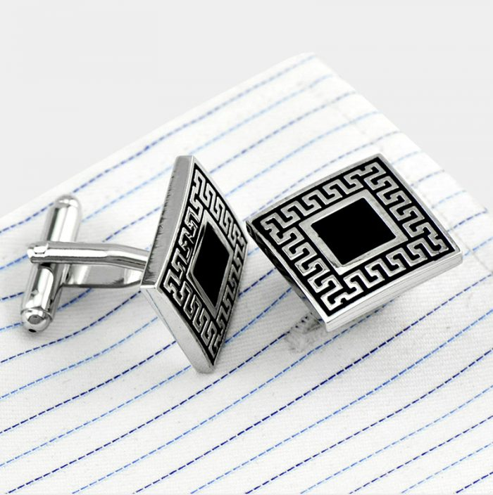 Vintage Enamel Cufflinks In Silver Plated For Men Swank Vintage Cufflinks from Gentlemansguru.com