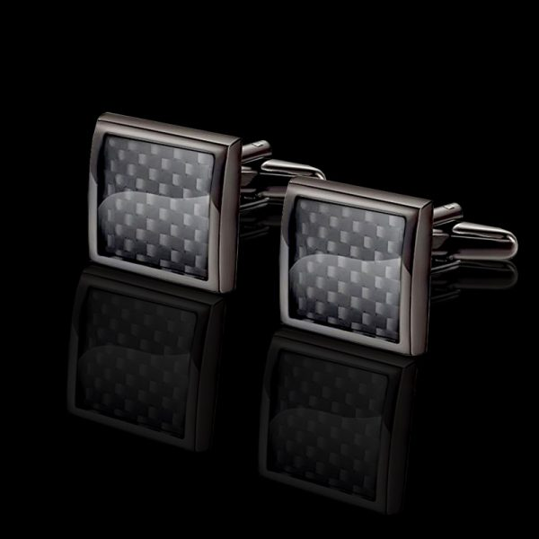 Black Carbon Fiber Cufflionks -tiffany-ferrari-titanium Carbon Fiber Cufflinks from Gentlemansguru.com