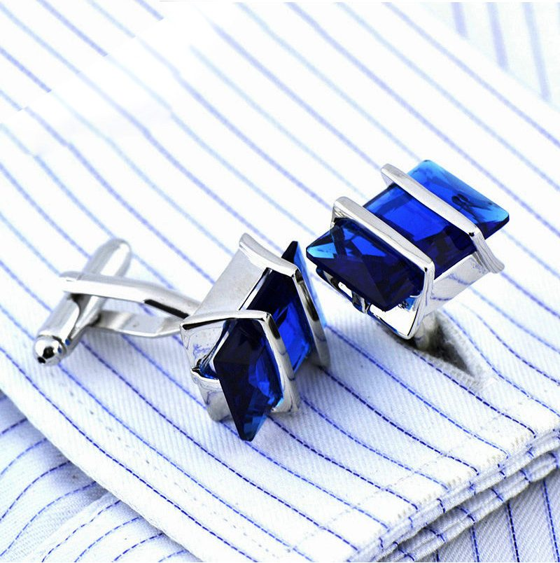 Blue Sapphire Cuff Shirt Cufflinks from Gentlemansguru.com