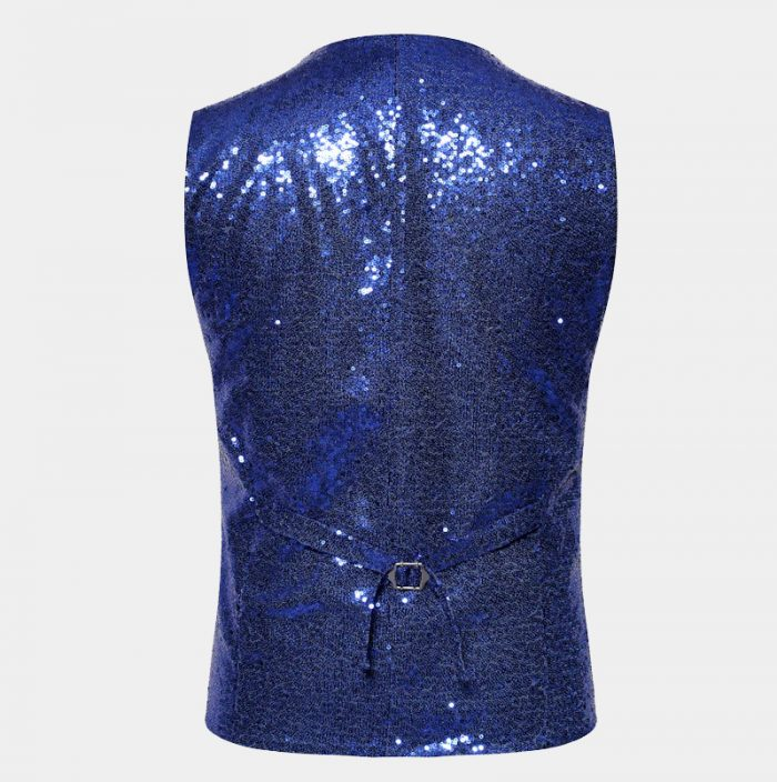 Blue Sparkly Wiastcoat for Men from Gentlemansguru.com