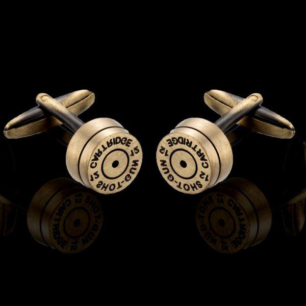 Brass Shotgun Shell Cufflinks Set from Gentlemansguru.com