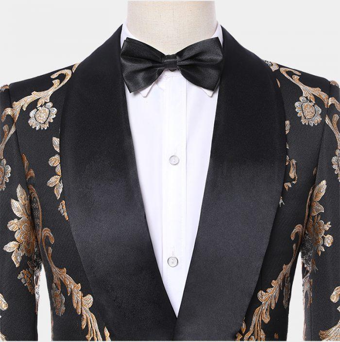 Champagne Vintage Print Tuxedo Jacket from Gentlemansguru.com