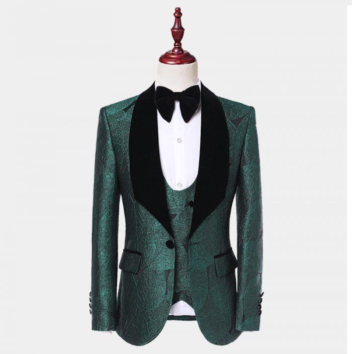 Emerald Green Tuxedo Jacket With Black Lapel from Gentlemansguru.com