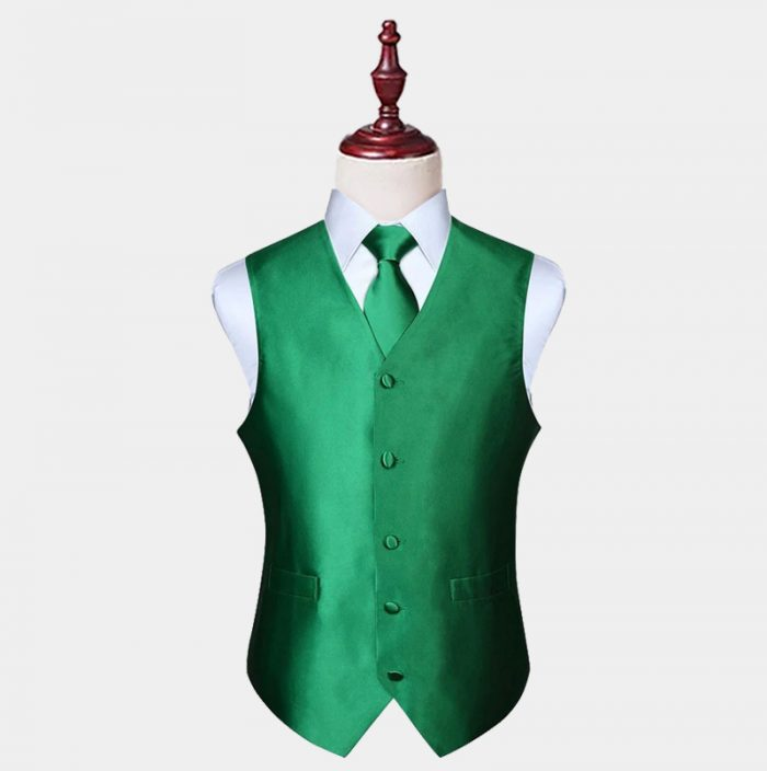 Emerald Green Vest And Tie Set from Gentlemansguru.com