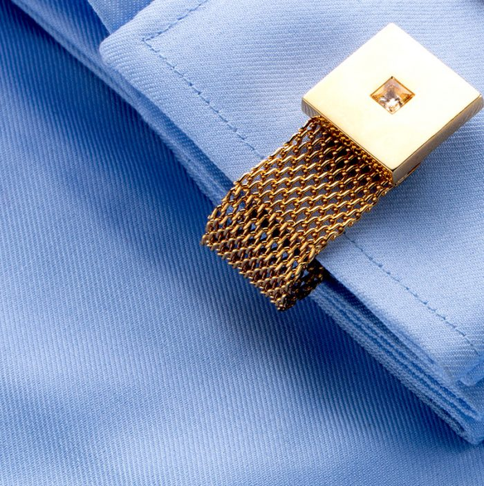 Gold Swank Wrap Around Cufflinks Set For Men from Gentlemansguru.com