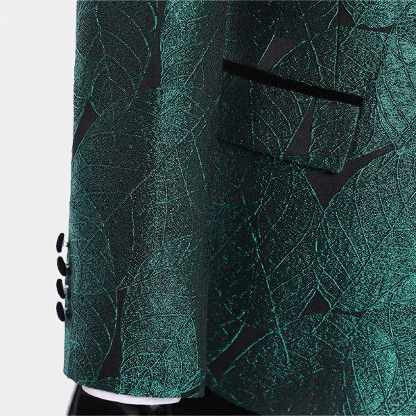 Green And Black Tuxedo Suit For Sale from Gentlemansguru.com