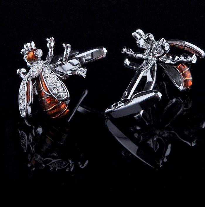 Honey Bee Cufflinks For Men simon-carter-worker-dio-gold-sterling silver Bee Cufflinks from Gentlemansguru.com