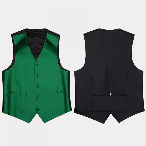 Hunter Green Vest And Tie Set For Men from Gentlemansguru.com