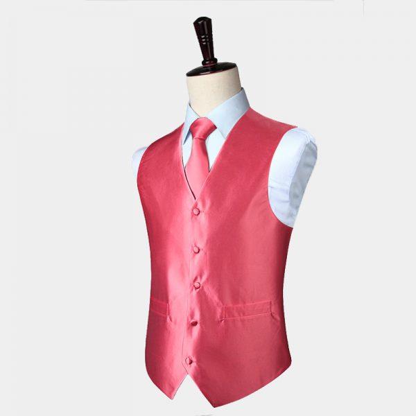 Light Pink Vest And Tie Set from Gentlemansguru.com