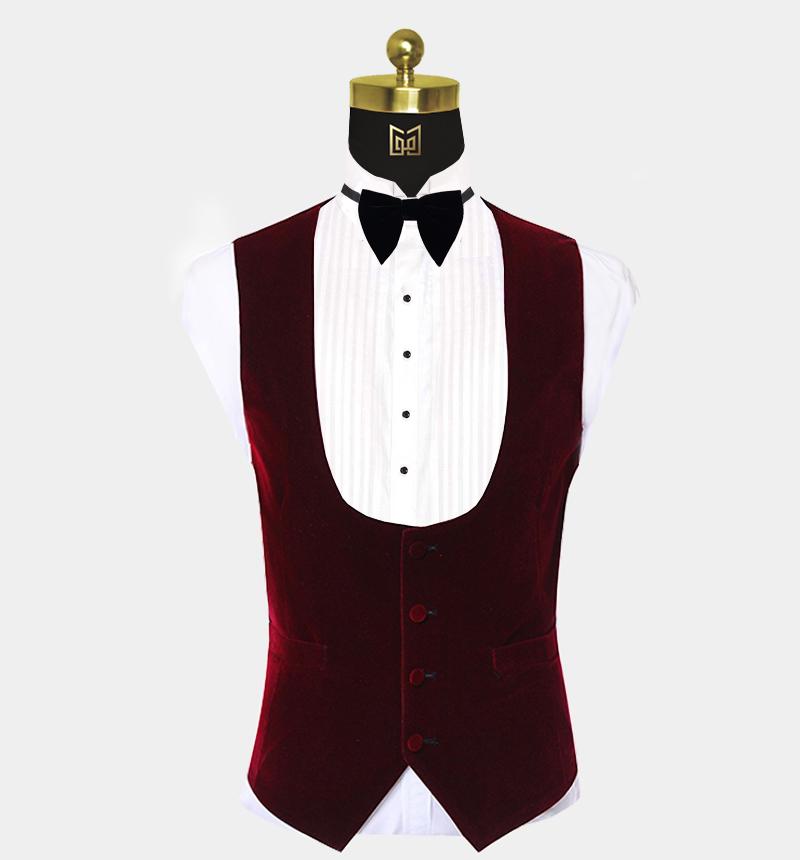 Mens-Burgundy-Velvet-Tuxedo-Vest-Waistcoat-from-Gentlemansguru.com