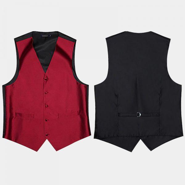 Mens Burgundy Vest And TIe from Gentlemansguru.com