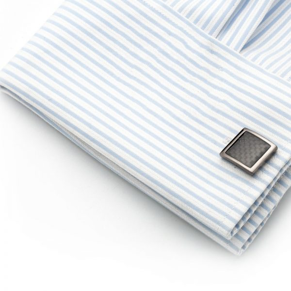 Mens Button Shirt Fench Cuff Carbon Fiber UK Cufflinks from Gentlemansguru.com