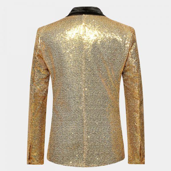 Mens Gold Sequin Tuxedo Blazer Top Coat -Prom-Wedding-from Gentlemansguru.com