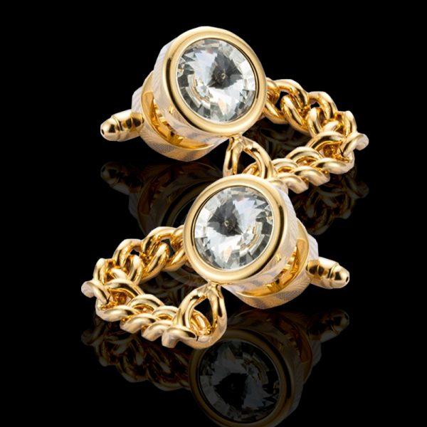 Mens Gold Wrap Around Cufflinks from Gentlemansguru.com
