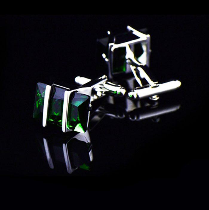 Mens Greenstone Cufflinks Green Cufflinks-Uk With Silver Plating from Gentlemansguru.com