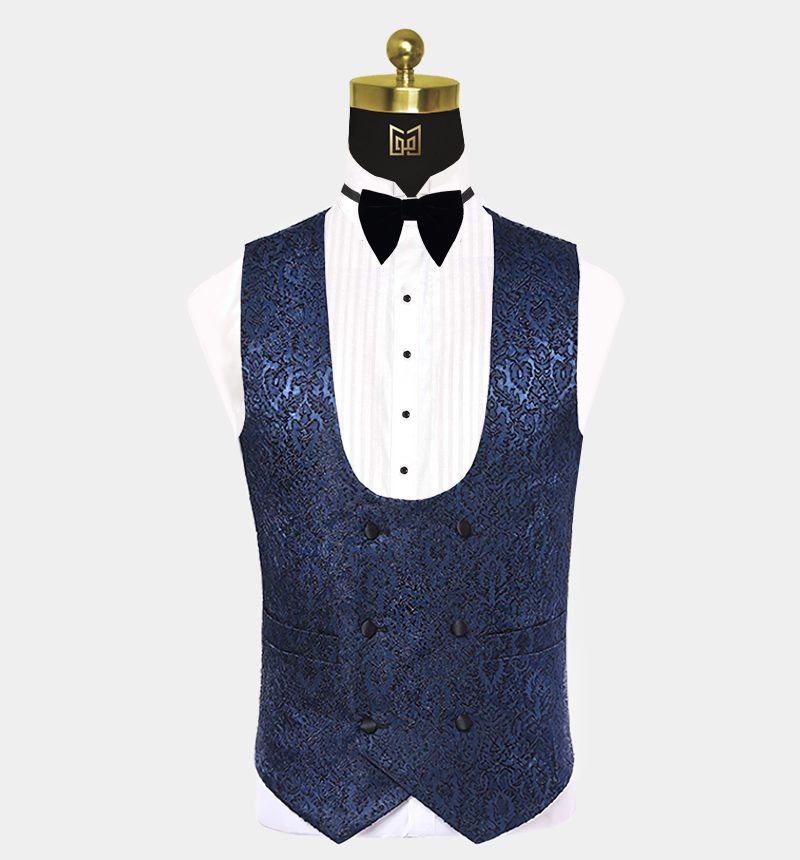Mens-Navy-Blue-Floral-Tuxedo-Vest-Waistcoat-from-Gentlemansguru.com