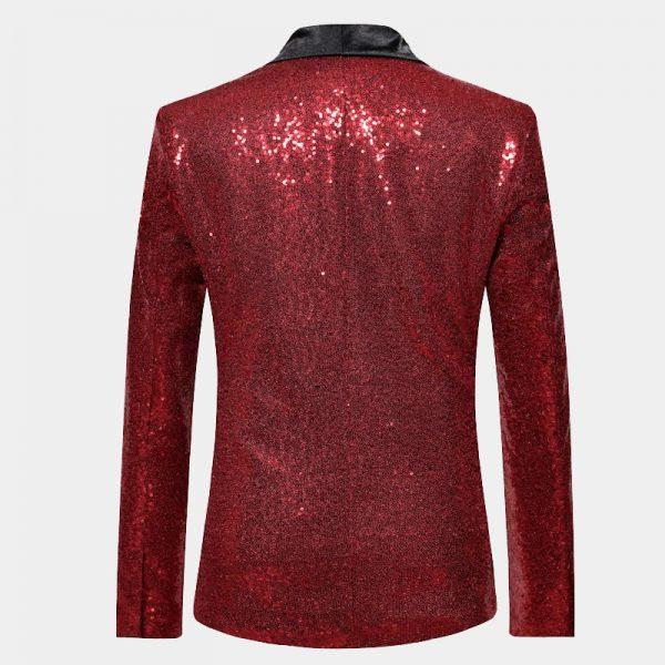 Mens Red Sequin Jacket Blazer For Prom-Wedding from Gentlemansguru.com