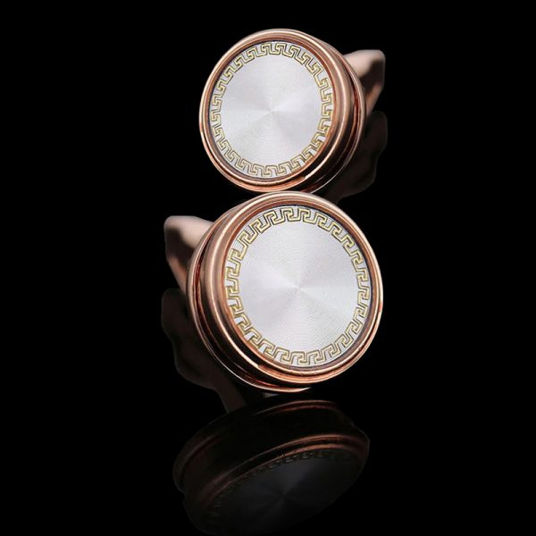 Mens Rose Gold Plated Cufflinks Wedding Rose Gold Cufflinks from Gentlemansguru.com