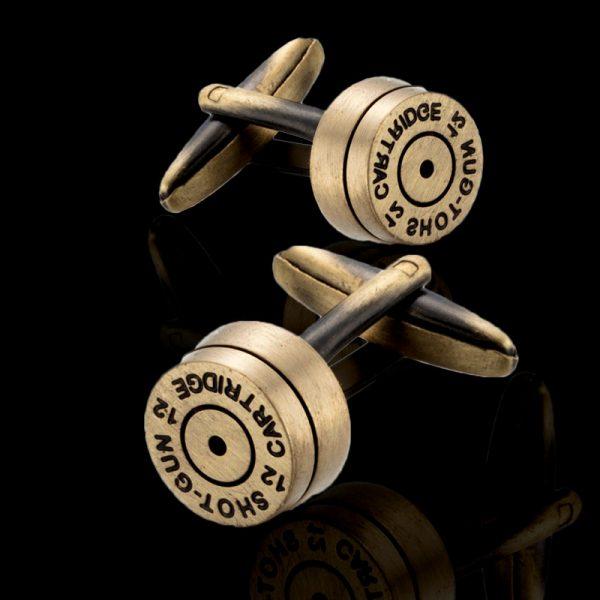 Mens Shotgun Shell Cufflinks from Gentlemansguru.com